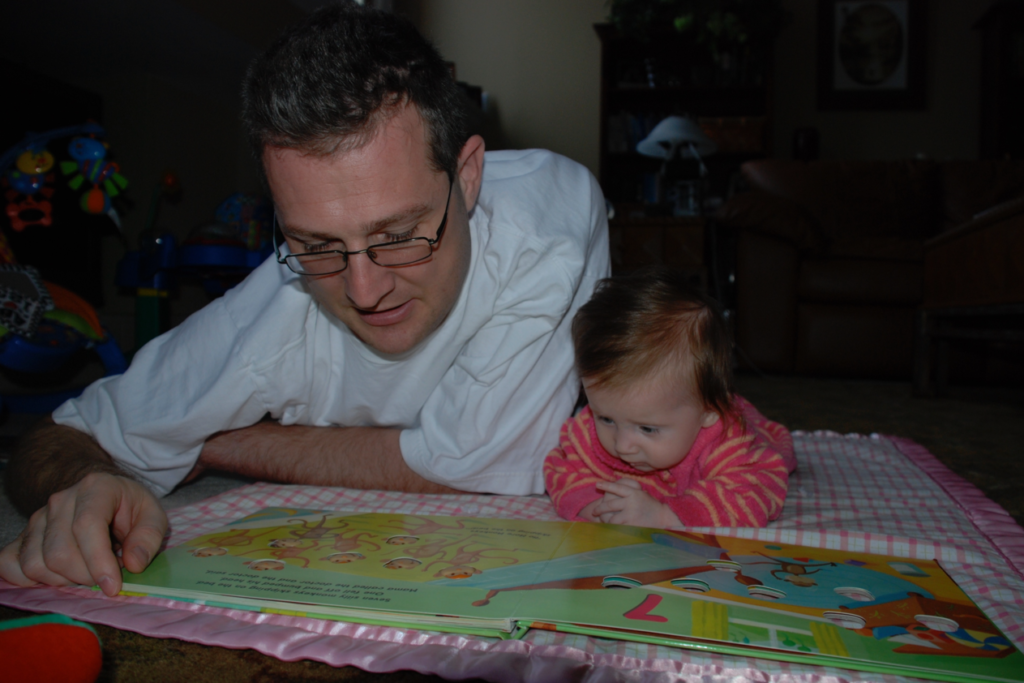 Reading with my daughter